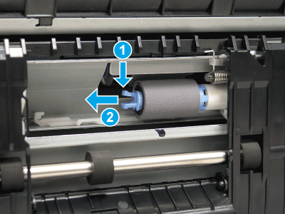 Remove the separation roller (A3 Tray 2 or A4 tandem Tray 3)