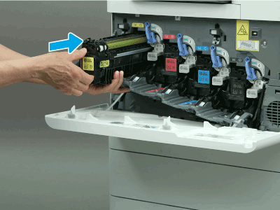 Install the toner cartridge