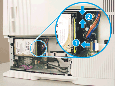 The locking connector is latched and the standoff is engaged with the slot
