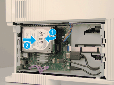 Rotate the HDD away from the formatter and remove the HDD