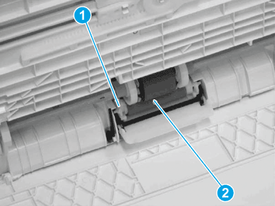 Release one tab and remove the tray 1 separation roller