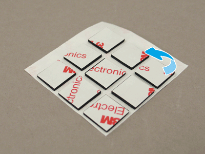 Remove an adhesive square