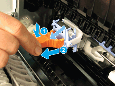 Tilt the tool down, and then remove the separation roller