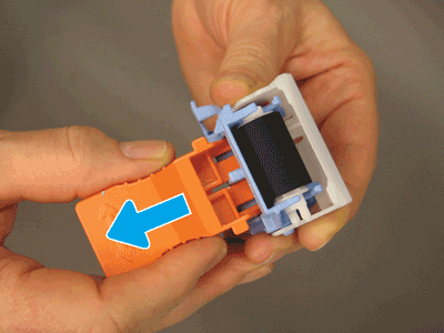 Remove the orange tool from the separation roller