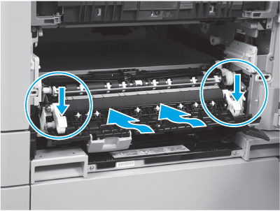 Align and install the secondary transfer roller