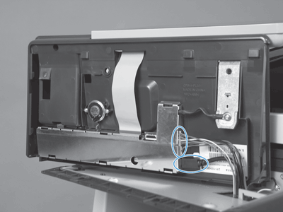 lift up and remove the control-panel assembly