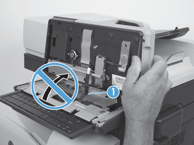 Raise the control panel to access the FFC connector (2of2)