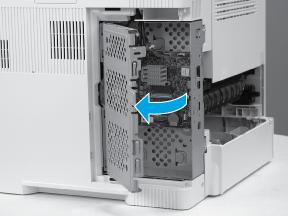Open the formatter case door