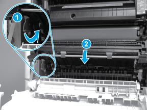 Lower the secondary transfer roller assembly