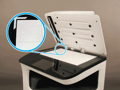 Place the reflector on the scanner glass