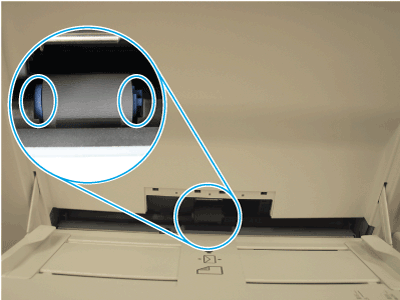 Verify that the Tray1 separation roller is correctly installed