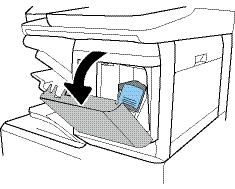 Open the staple-cartridge door