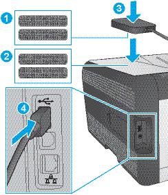 Attach the print server to the printer