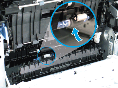 Locate the pickup roller assembly