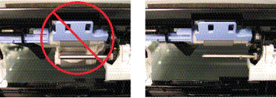 Roller incorrect and correct installation