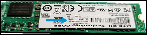 SSD serial number label damage
