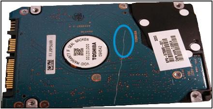 HDD PCB damage