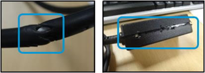 Adapter cable damage