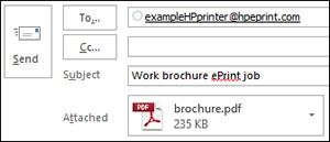 Example of an ePrint job email