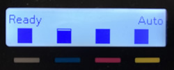 Toner levels displaying on a control panel