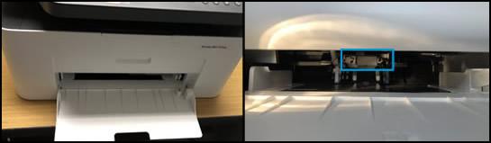 Wałki w obszarze podajnika papieru