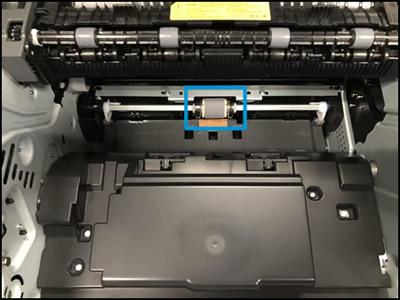 מדפסות שבהן הגליל ממוקם מתחת למחסניות