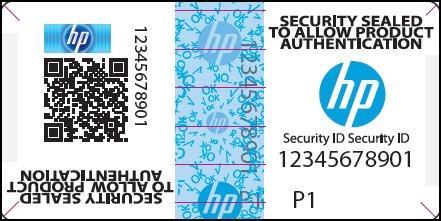 Etiqueta de seguridad de HP