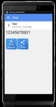 ID de seguridad del código QR que se muestra en la aplicación del teléfono inteligente
