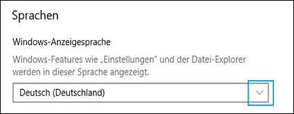 Ändern der Windows-Anzeigesprache
