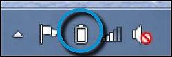 Ícone do medidor de carga da bateria