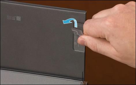 Peeling off the instruction sticker