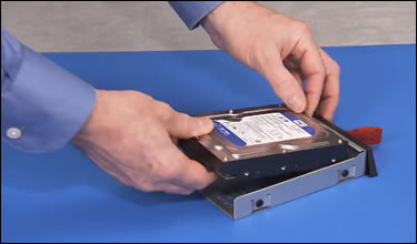 Removing the hard drive from the enclosure