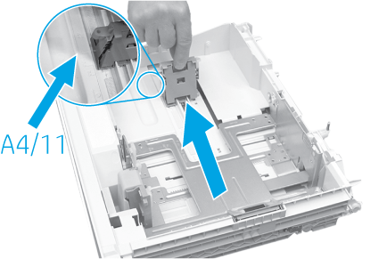 Adjust the tray paper length guide