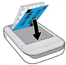 דוגמה של טעינת נייר לתוך המדפסת