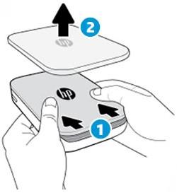 Remover a tampa superior