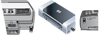 Bluetooth-adapterns portar på skrivaren