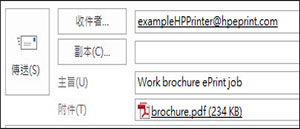ePrint 工作電子郵件範例