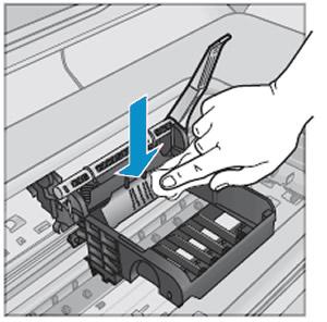Reinigen der elektrischen Kontakte im Inneren des Druckers