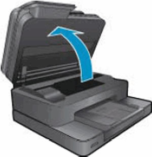 Apertura de la puerta de acceso de los cartuchos de tinta