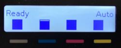 Tonernivåer som visas på en kontrollpanel