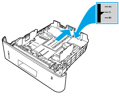 Ajustar la guía de longitud del papel