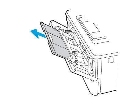 Faire coulisser l'extension du bac vers l'extérieur