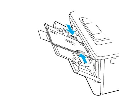 Ładowanie kopert stroną do zadruku skierowaną do góry