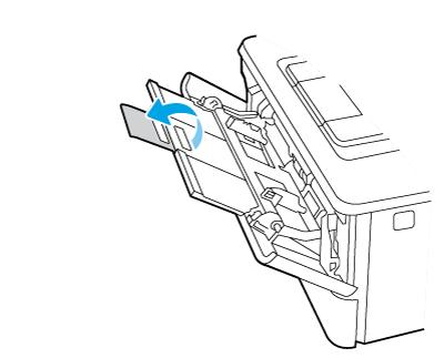 翻開紙匣延伸板