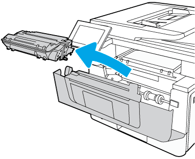 Remove toner cartridge
