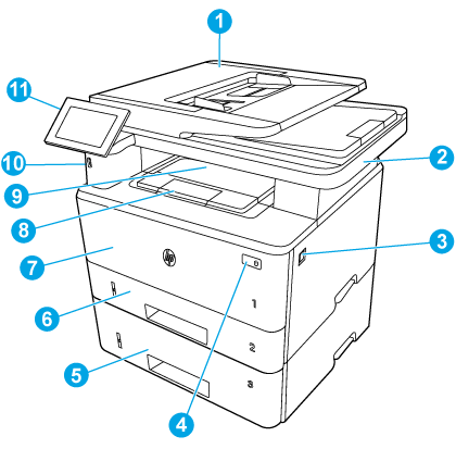 Printer front components