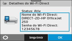 Exibir o menu de detalhes do Wi-Fi Direct