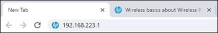 Escribir la dirección IP en la barra de direcciones del navegador de Internet