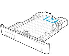 Einlegen von Etikettenbögen mit der Druckseite nach oben in Fach2