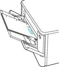 Orientation du papier avec les trous sur le côté gauche